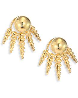 Spectrum 18k Yellow Gold Ear Jacket & Stud Earrings Set