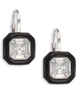 Oui Diamond & Enamel Drop Earrings