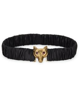 Satin Belt With Fox Buckle