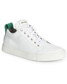 Perforated Leather Low-top Sneakers
