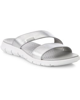 Zer? Grand Metallic Leather Slides