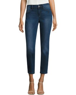 Angie Skinny Ankle Cropped Jeans