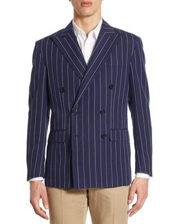 Morgan Regular-fit Pinstriped Double-breasted Sportcoat