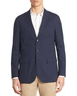 Morgan Slim-fit Seersucker Sportcoat