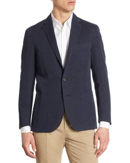 Regular-fit Garment-dyed Cotton & Linen Sportcoat