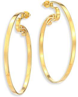 Jete Hoop Earrings/2.5