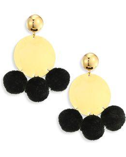 Stevie Pom-pom Drop Earrings