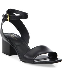 Sam Leather Ankle-strap Sandals