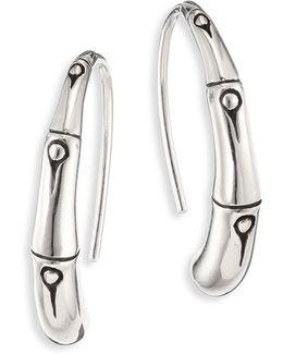 Bamboo Small Sterling Silver Hoop Earrings/1