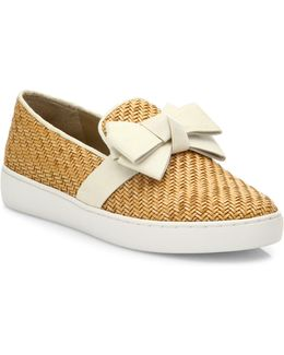 Val Woven Bow Skate Sneakers