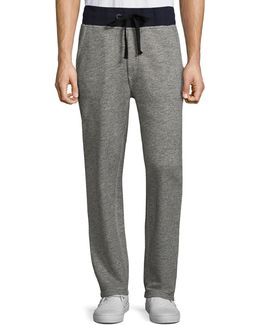 Contrast Banded Heathered Sweatpants