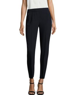 Arabella Crepe Straight-leg Pants