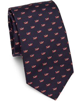 Dragon Fly Silk Tie