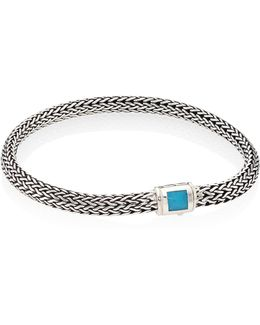 Classic Chain Extra Small Turquoise & Sterling Silver Bracelet