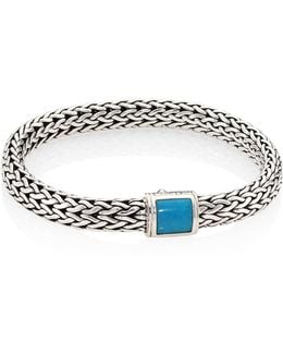 Classic Chain Medium Turquoise & Sterling Silver Bracelet