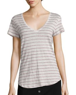Lynnea Striped Linen Tee