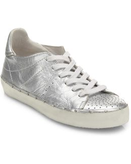 Michell Metallic Leather Sneakers