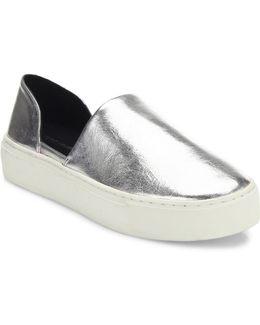 Nana Metallic Leather D'orsay Skate Sneakers