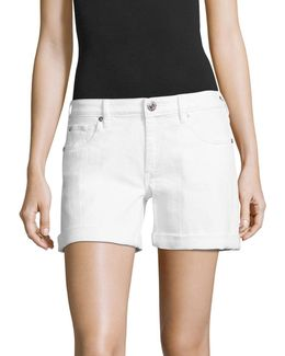Emma Cuffed Denim Bermuda Shorts
