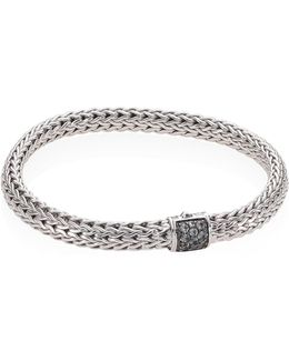 Classic Chain Small Grey Sapphire & Sterling Silver Bracelet