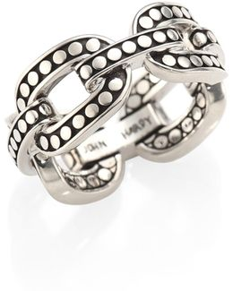 Dot Sterling Silver Band Ring