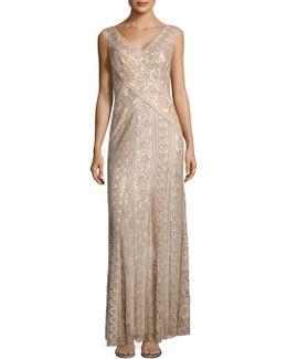 Lace Godet Dress