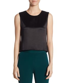 Silk Shell Cropped Top