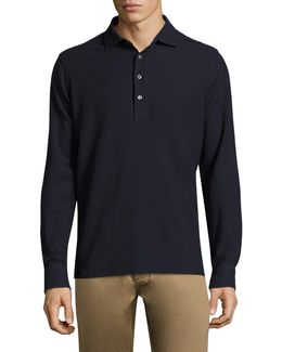 Double Pique Long Sleeve Cotton Tee