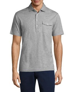 Lisle Heathered Cotton Polo