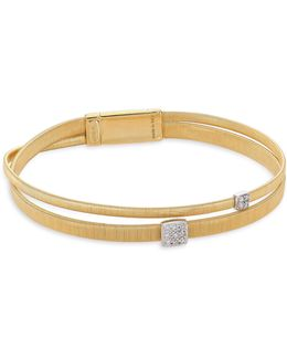 Masai Diamond Station & 18k Yellow Gold Bracelet