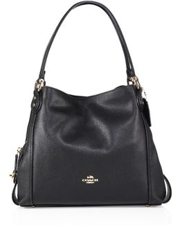 Edie 31 Polished Pebble Leather Shoulder Bag