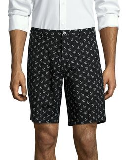 Newports Tossed Anchors Flat Shorts