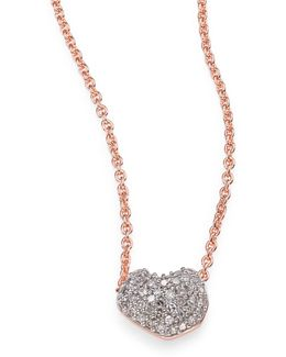 Nura Mini Heart Diamond Pendant Necklace
