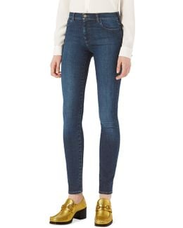 Loved Patch Skinny Jeans