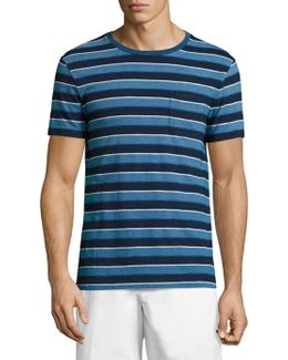 Cotton Slub Striped Tee