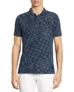 Featherweight Mesh Floral Knit Polo
