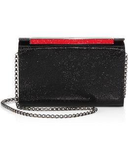 Vanite Small Strass Leather Clutch