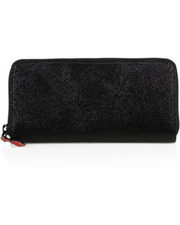 Panettone Textured Leather Clutch