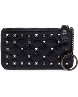 Rockstud Spike Leather Key Case