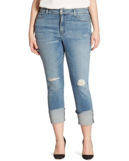 Plus Lorena Folded Cuff Boyfriend Jeans