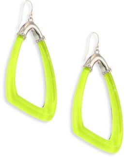 Lucite Asymmetrical Hoop Earrings