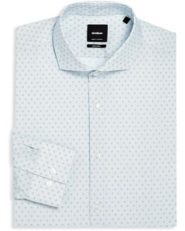 Adrian Printed Slim-fit Dress Shirt