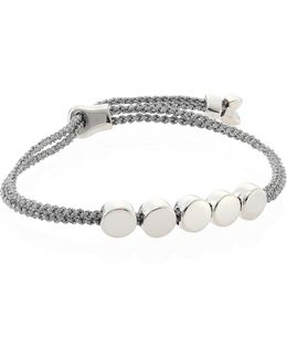 Linear Bead Sterling Silver Friendship Bracelet/silver Metallica