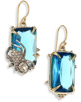 Elements Blue Spinel & Crystal Spider Drop Earrings