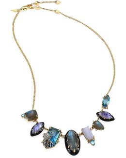 Elements Multi-stone Spider Bib Necklace