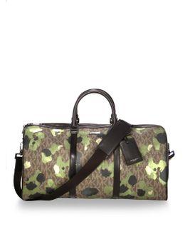 Camouflage Print Large Duffle Bag