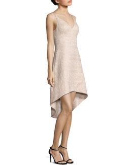Jacquard Fit-&-flare Hi-lo Dress