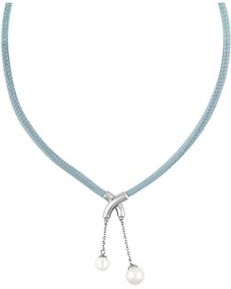 New Isla 7-9mm Pearl & Leather Necklace