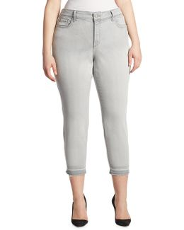 Alina Cotton-blend Cropped Pants