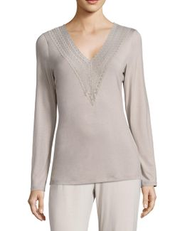 Lori Lace-accented Top